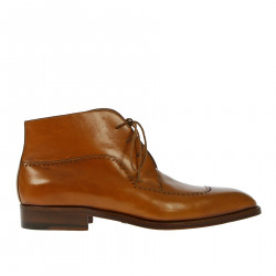BROWN LEATHER DESERT BOOT