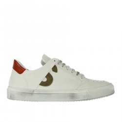 BAMBA WHITE AND RED SNEAKER