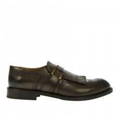 BROWN LOAFER WITH BUCKLE
