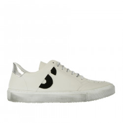 BAMBA WHITE AND SILVER SNEAKER