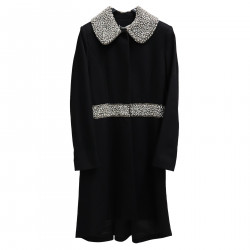 BLACK COAT WITH STRASS