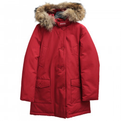 RED PARKA WITH HOOD