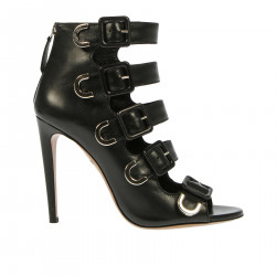 BLACK SANDAL WITH BUCKLE