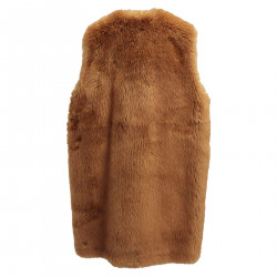 BROWN ECOL FUR VEST