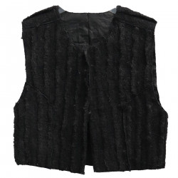 BLACK VEST IN ECO-LEATHER