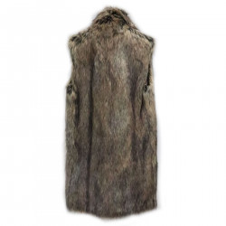 ANIMALIER AND GREEN VEST IN ECO-FUR