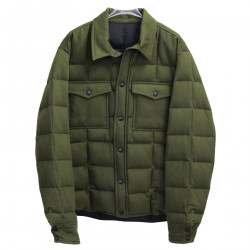 GREEN QUILTED PADDED JACKET