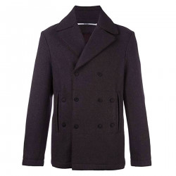 PURPLE DOUBLEBREASTED COAT