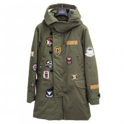 MILITARY GREEN JACKET WITH PATCH