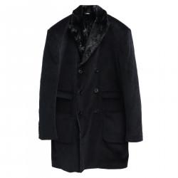 BLACK RIBBED COAT