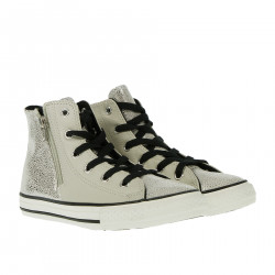 GREY AND SILVER HIGH SNEAKER