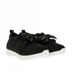 BLACK SLIP ON WITH BOW