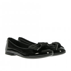 BLACK FLAT SHOE WITH BOW