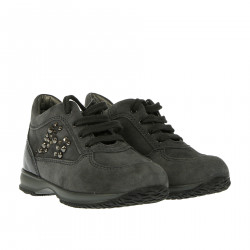 GREY SNEAKER WITH RHINESTONES
