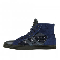 BLUE SNEAKER WITH SEQUINS