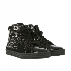BLACK SNEAKER WITH RHINESTONES