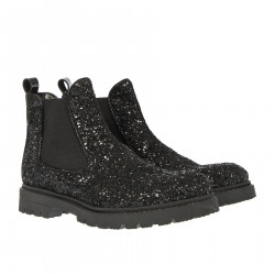 CHELSEA BOOT NERO IN GLITTER