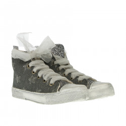 GREY HIGH SNEAKER WITH STARS