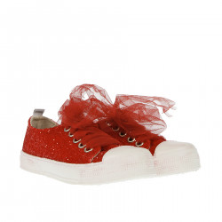 SNEAKER WITH RED GLITTERS