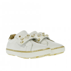 WHITE SNEAKER WITH BEADS