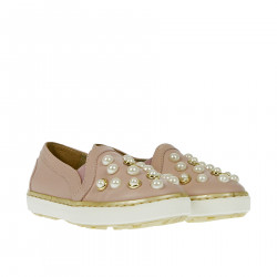 SLIP ON ROSA CON PERLINE