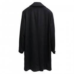 BLACK DOUBLEBREASTED COAT