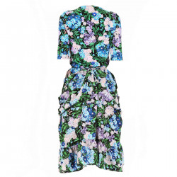 MULTICOLOR DRESS WITH FLOWERS FANTASY