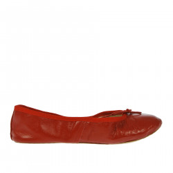 RED FLAT SHOE