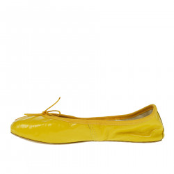 YELLOW FLAT SHOE