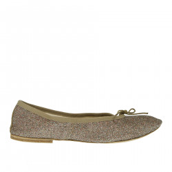 GLITTER FLAT SHOE WITH HEEL