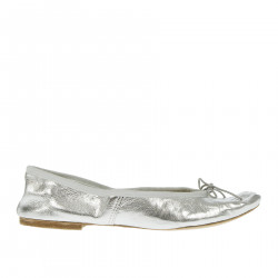 SILVER FLAT SHOE WITH HEEL