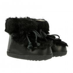 BLACK MOON BOOT WITH ECO FUR