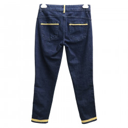 BLUE JEANS WITH GOLD DETAILS