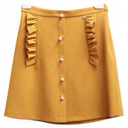 OCRA SKIRT WITH BEADS