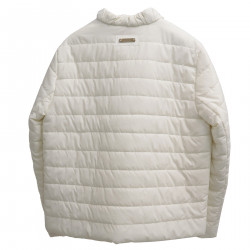 WHITE SHORT PADDED JACKET