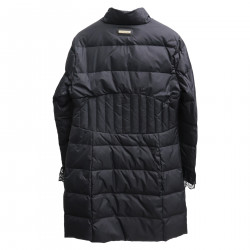 BLACK LONG PADDED JACKET