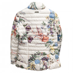CREAM FLORAL PADDED JACKET