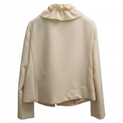 CREAM JACKET WITH ROUCHES