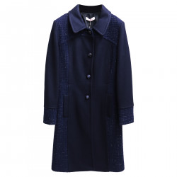 BLUE COAT WITH APPLICATIONS