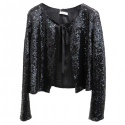 GIACCA NERA IN PAILLETTES