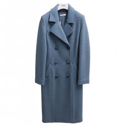 LIGHT BLUE DOUBLE BREASTED COAT