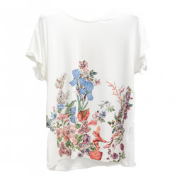 WHITE FLORAL T SHIRT