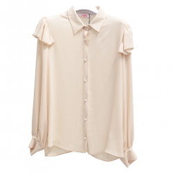 BEIGE SHIRT WITH FLOUNCES