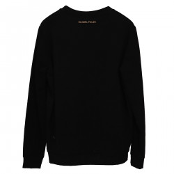 BLACK SWEATSHIRT WITH APPLICATIONS