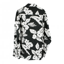 BLACK SHIRT WITH FLOWER