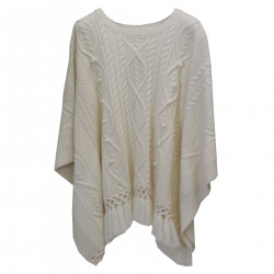 WHITE SWEATER WITH FRINGES