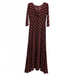 BEIGE DRESS AND STRIPED BORDEAUX