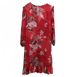 RED DRESS WITH FLOWER FANTASY