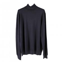 BLUE HIGH NECK PULLOVER