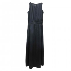BLACK LONG DRESS SLEEVELESS